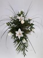 481 - smuteční vazba z umělých květů