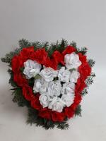 485 - smuteční vazba z umělých květů