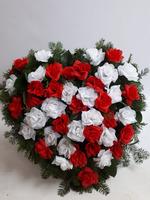 486 - smuteční vazba z umělých květů