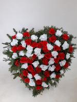 487 - smuteční vazba z umělých květů