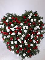 488 - smuteční vazba z umělých květů